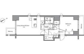 1LDK Mansion in Azabudai - Minato-ku