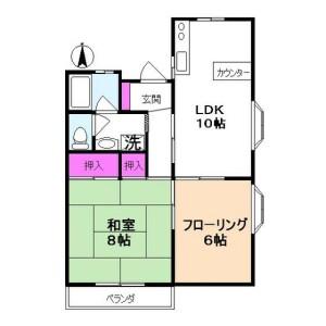 國分寺市東元町-2LDK公寓 房間格局
