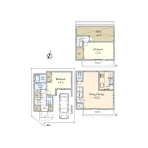 2SLDK {building type} in Kitashinjuku - Shinjuku-ku Floorplan