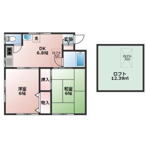 2DK Apartment in Nogata - Nakano-ku Floorplan