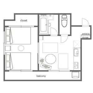 1DK Mansion in Kuramae - Taito-ku Floorplan