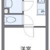 在横浜市南区内租赁1K 公寓 的 楼层布局