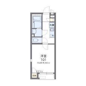 横浜市南区清水ケ丘-1K公寓 楼层布局