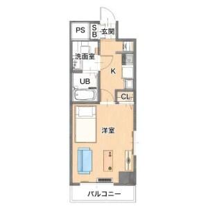 横浜市港北区新横浜-1K公寓大厦 楼层布局