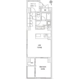 港區東麻布-1LDK公寓大廈 房間格局