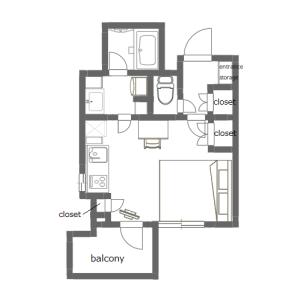 1R Mansion in Shiba(1-3-chome) - Minato-ku Floorplan