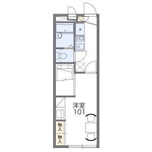 1K Apartment in Naka - Yaita-shi Floorplan