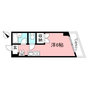 国分寺市東元町-1R公寓大厦 楼层布局
