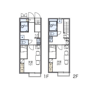 1K Apartment in Nakaochiai - Shinjuku-ku Floorplan