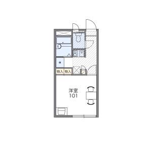 1K Apartment in Kuchitanaka - Amagasaki-shi Floorplan