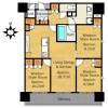 在大津市购买3LDK 公寓大厦的 楼层布局