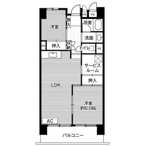 2SLDK Mansion in Azuma - Narita-shi Floorplan
