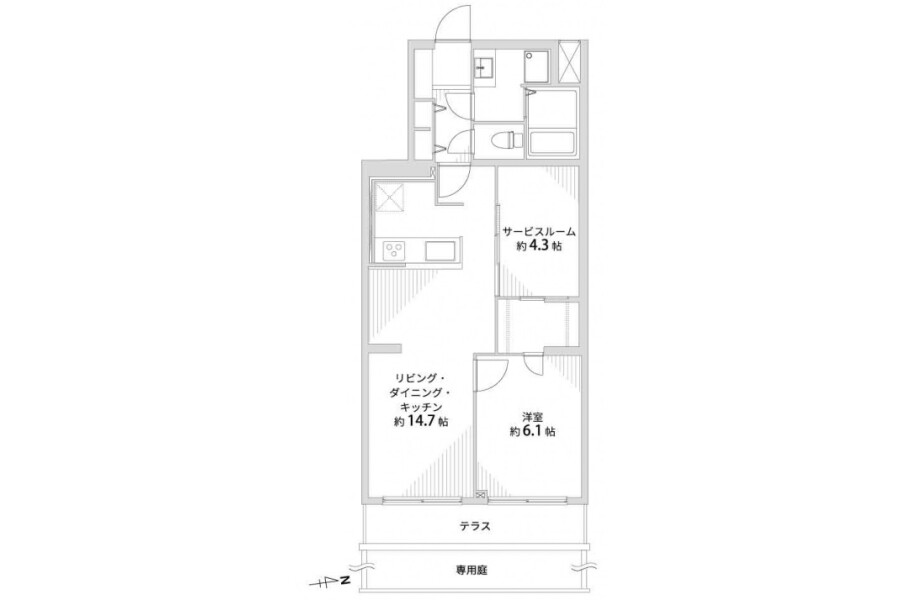 1SLDK Apartment to Buy in Kyoto-shi Kamigyo-ku Floorplan