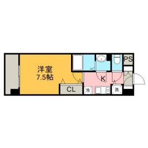 1K Mansion in Honchibacho - Chiba-shi Chuo-ku Floorplan
