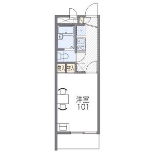 1K Mansion in Koryonishimachi - Sakai-shi Sakai-ku Floorplan