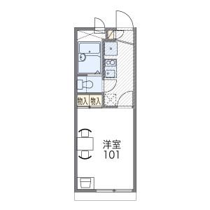 1K Apartment in Hino noirocho - Kyoto-shi Fushimi-ku Floorplan