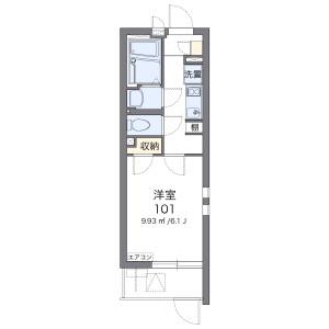 神戸市中央區上筒井通-1K公寓大廈 房間格局
