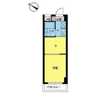 1DK Mansion in Shiratori - Katsushika-ku Floorplan