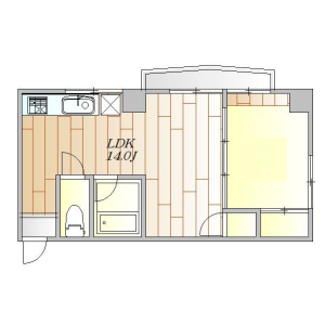 1LDK Mansion in Shoto - Shibuya-ku Floorplan