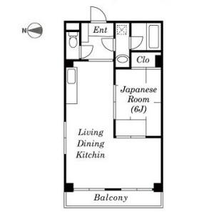 1LDK Mansion in Furuishiba - Koto-ku Floorplan