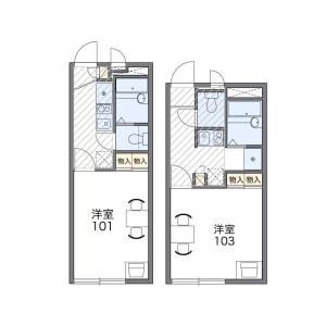 練馬區練馬-1K公寓 房間格局
