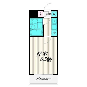 世田谷区 用賀 1K マンション 間取り