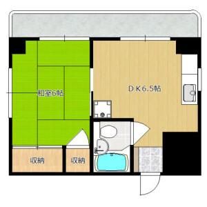 1DK Mansion in Komazawa - Setagaya-ku Floorplan