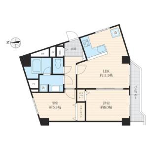 2LDK {building type} in Kitashinagawa(5.6-chome) - Shinagawa-ku Floorplan