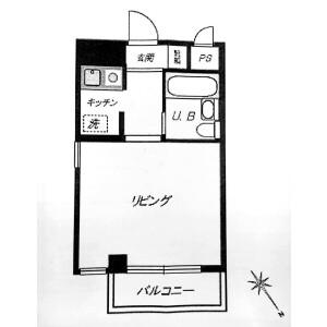 1K Apartment in Minamiaoyama - Minato-ku Floorplan