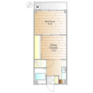 1DK Mansion in Minamiyukigaya - Ota-ku Floorplan