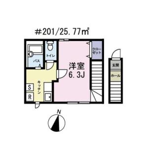 1K Apartment in Kamiikebukuro - Toshima-ku Floorplan