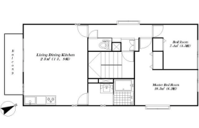 港区東麻布-2LDK公寓大厦
