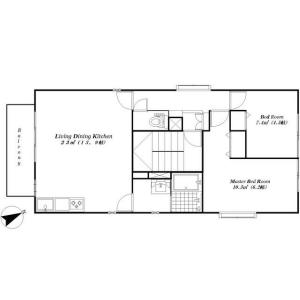 港区東麻布-2LDK公寓大厦 楼层布局