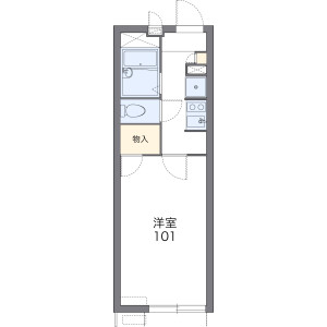 1K Apartment in Sanno - Osaka-shi Nishinari-ku Floorplan