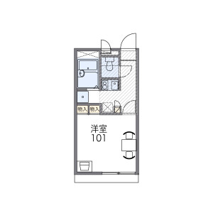 1K Apartment in Aburanokojicho - Kyoto-shi Shimogyo-ku Floorplan