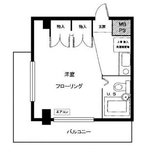 朝霞市仲町-1R公寓大廈 房間格局