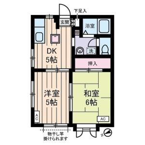 世田谷区 豪徳寺 2DK アパート 間取り