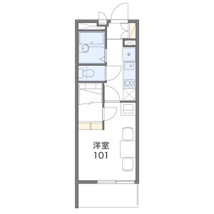 1K Apartment in Nagabusamachi - Hachioji-shi Floorplan