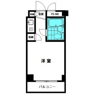 1R {building type} in Tenjincho - Hachioji-shi Floorplan