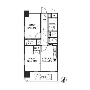 2DK Mansion in Nishihiranumacho - Yokohama-shi Nishi-ku Floorplan