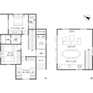 3LDK {building type} in Hokujo - Kitaazumi-gun Hakuba-mura Floorplan