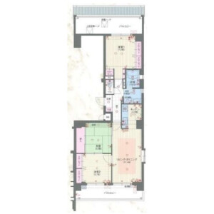 3LDK {building type} in Hakatacho - Kyoto-shi Higashiyama-ku Floorplan
