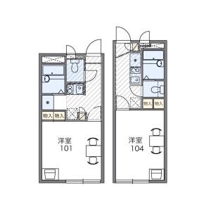 1K Apartment in Kotohirahommachi - Kumamoto-shi Floorplan
