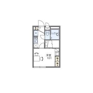 1K 아파트 in Nishiichinoe - Edogawa-ku Floorplan