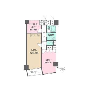 1SLDK Mansion in Okusawa - Setagaya-ku Floorplan