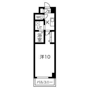 1K Mansion in Masaki - Nagoya-shi Naka-ku Floorplan
