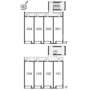 1K Apartment in Hosoda - Katsushika-ku Floorplan