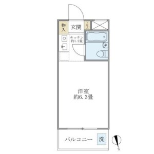 新宿區早稲田町-1K公寓大廈 房間格局