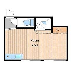 1R {building type} in Nakano - Nakano-ku Floorplan