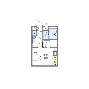 1K Mansion in Kanamecho - Chiba-shi Chuo-ku Floorplan